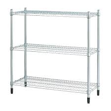 ikea metal bookshelf white minimalist shelf unit galvanized