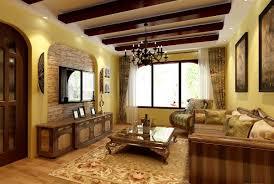 Mediterranean Living Room Decor Interior Retro White Decoration Living Room In Mediterranean