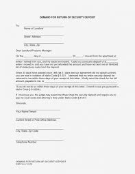 valid sle security deposit refund letter from landlord new format for requesting a best of s