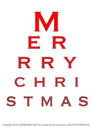 Free Christmas Eye Chart Printable Eye Chart Printable