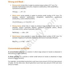 chapter notes acids bases and salts class 10 science notes