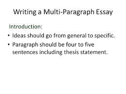 Example Of Introduction Paragraph To An Essay Writing A Multi Paragraph Essay Ppt Video Online Download