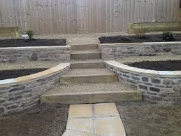 Small Picture Retaining walls in natural stone sleeper steps garden design by