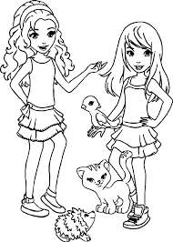 Coloring Pages Lego Friends Printable For Page Sheets Dpalaw