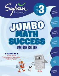 3rd grade jumbo math success workbook activities exercises and tips to help catch up keep up and get ahead sylvan math super workbooks paperback