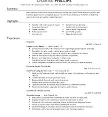 Resume For Auto Mechanic Delectable Automotive Mechanic Resume Samples Unique Mechanic R Automotive