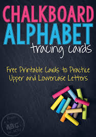 Letter Practicing Printable Chalkboard Alphabet Tracing Cards From Abcs To Acts
