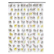 topsy multi coloured patterned shower curtain