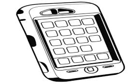 Cell Phones Coloring Pages Phone Page Mst Dn Me