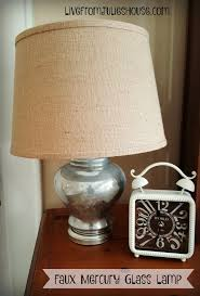 mercury glass lamp with burlap shade transform a thrift lamp with an easy faux
