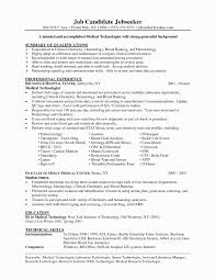 Laboratory Technician Resume Sample 60 Elegant Medical Lab Technician Resume format Awesome Resume 12