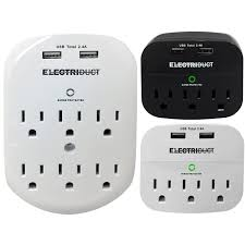 power usb charging wall mount adapter surge protectors electriduct