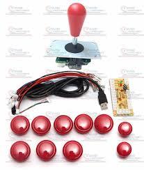 diy arcade joystick handle set kits with 8 way joystick push ons zero delay usb adapter to pc joystick on encoder plate
