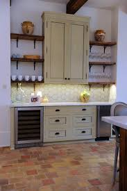 Terra Cotta Floor Tile Kitchen Kitchen Countertops Are Bianco Carrara Honed Marble Antique