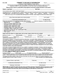Fillable Online Consent To Release Of Information Form