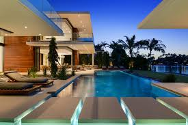 Pool And Bbq Designs Exterior Pool And Fountain Area With Cabana And Bbq Miami