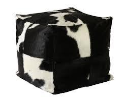 Black And White Pouf Cowhide Pouf Black And White Decohides