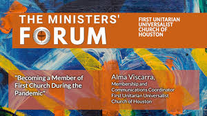 """Ministers' Forum - """"Becoming a Member ofFirst Church During the Pandemic""""  with Alma Viscarra. - YouTube"""