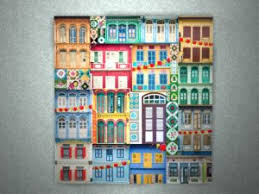 on wall art painting singapore with singapore shophouse art