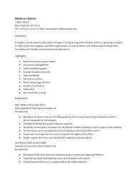Resume 42 Recommendations Receptionist Resume Hi Res Wallpaper
