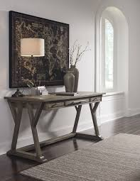 large desks for home office. Luxenford - Grayish Brown Home Office Large Leg Desk Large Desks For Home Office