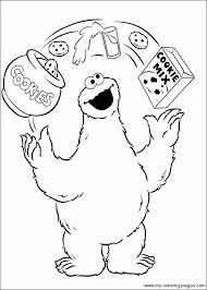 Small Picture Coloring Pages Of Cookie Monster Coloring Home