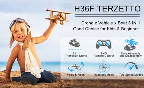 JJRC H36F MIni Drone Vehicle Boat 3 in 1 RC ... - Amazon.com