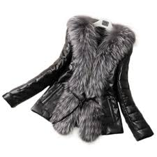 fall winter style pu leather stitching faux fox fur coats plus size slim outerwear womens man made fur outwears fur jackets