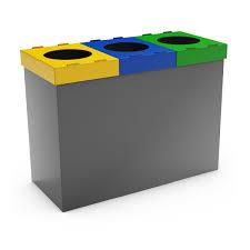 mondo 3f gray recycling bin for home 3 compartments