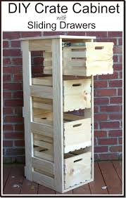 woodworking drawer slides best of diy crate cabinet with sliding drawers
