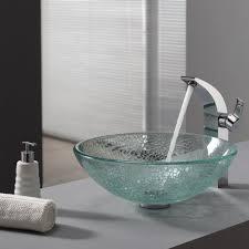 bathroom glass vessel sink and faucet combination kraususa for kraus vessel sinks