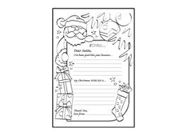 Letter To Santa Template Ichild