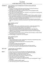 FpA Resume FPA Senior Analyst Resume Samples Velvet Jobs 1