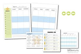 Planner Printables For Students Free Kids Planner Printable Fits In Binder A Few Shortcuts