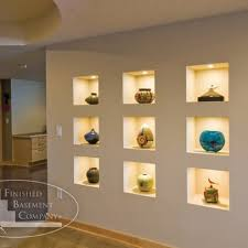 wall art lighting ideas. wall niche ideas niches are builtin to the art lighting