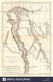 Blue Nile Stock Chart Aegyptus Ancient Egypt Nile Valley Bonne 1789 Old Antique