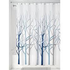 gray and blue shower curtain. interdesign forest fabric shower curtain, 72 x 72, blue/gray gray and blue curtain