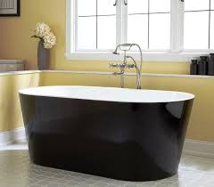 image of painting bathtub black elegant