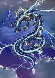 Lightning Blue Dragon Wallpaper