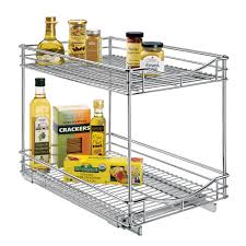 Under Kitchen Sink Organizing Under Sink Organizer Slide Out Baskets Cabinet Shelves