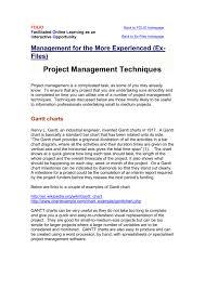 Project Management Techniques