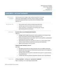 Resume Key Account Manager Example Bongdaao Com