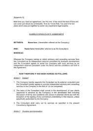 Free Consulting Agreement Template Word Fxbaseball Com
