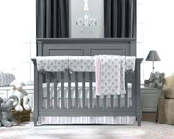 gray nursery bedding damask pink crib set baby target and sets chevron outstanding beddi
