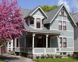 Impressinglightbluehouseexteriorpaintideawithbrownwindow - Paint colours for house exterior
