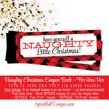 christmas naughty coupon book sexy christmas gifts for him 🔎zoom