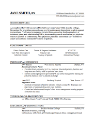 Example Of Registered Nurse Resume Extraordinary Registered Nurse Resume Sample Internships