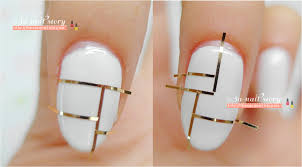 Nail line art - how you can do it at home. Pictures designs: Nail ...