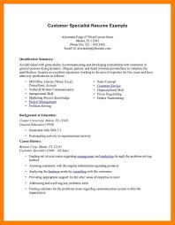 Summary Examples For Resume Customer Service 60 qualifications for a resume the stuffedolive restaurant 55