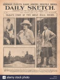 1915 front page Daily Sketch Marriage of Ivy Gordon-Lennox and the Stock  Photo - Alamy